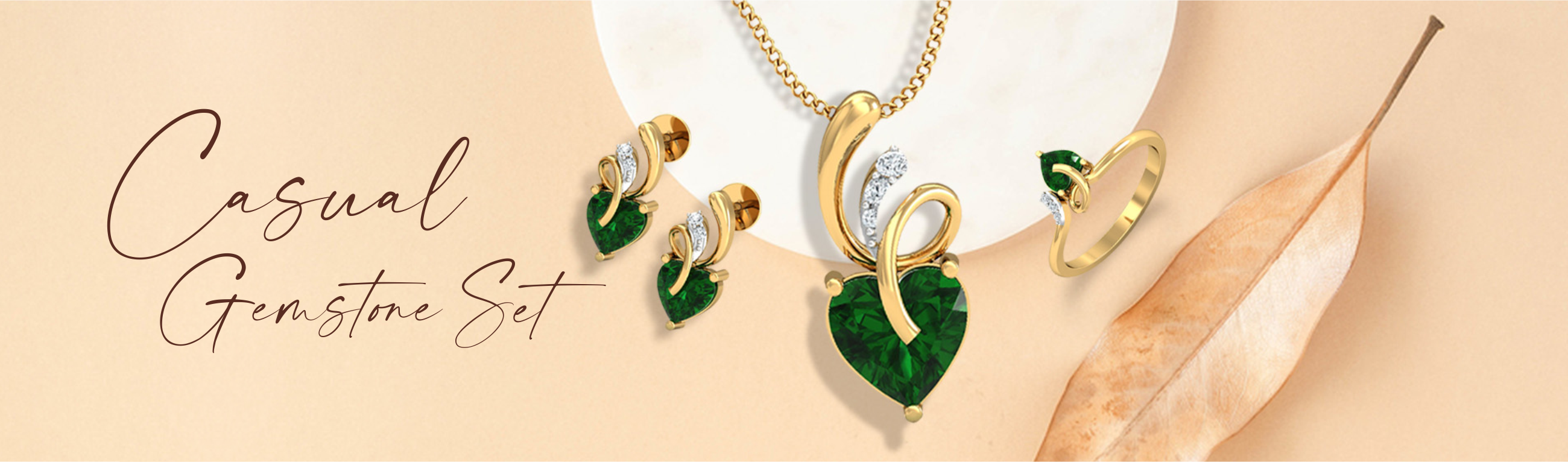 casual gemstone set