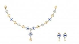 Amira Diamond & Sapphire Chain Necklace