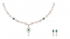 Amira Diamond & Emerald Necklace