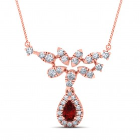 Victoria Diamond double Hook Pendant Necklace