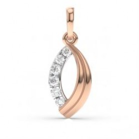 Leaf Diamond Pendant - Sale