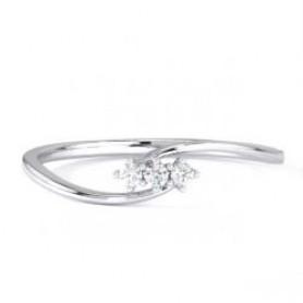Three Stone  Casual Diamond Ring - Sale