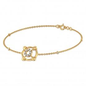 Trinity Diamond loose Chain Bracelet