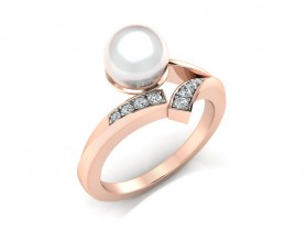 Bridesmaid Diamond &Pearl Ring