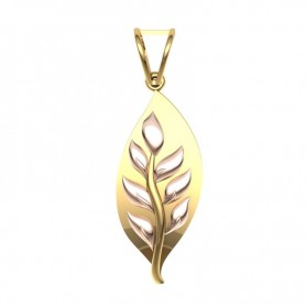 Wreathe Gold Pendant