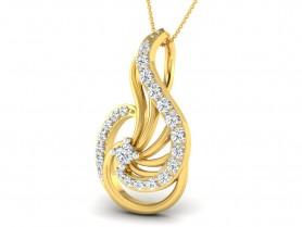 Diamond Filigree Pendant &Stud