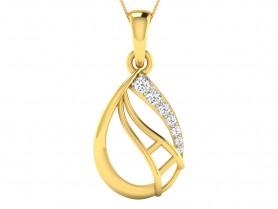 Diamond Leaf Pendant & Stud