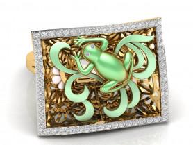 Nature- Diamond & Enamel Ring