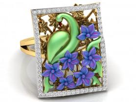 Nature- Diamond &Enamel Ring