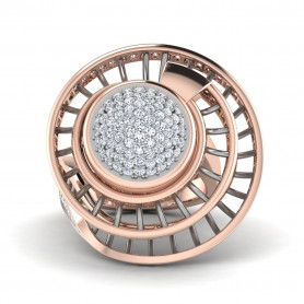 Contemporary Bridal  Diamond Ring
