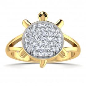 Tortoise Diamond Classic Ring