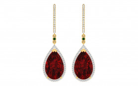 Diamond & Color stone Earring
