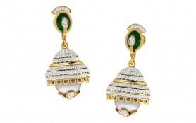 Traditional Pearl & Diamond Earring