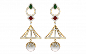 Diamond, Pearl & Gemstone Earring