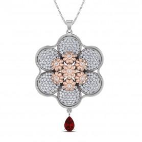 Floral Diamond & Gemstone Jewelry Set