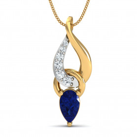 Diamond & Sapphire Jewelry Set
