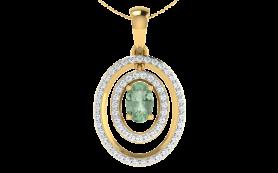 Diamond & Peridot Gemstone Jewelry Set