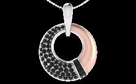 Two tone circular diamond Jewelry Set