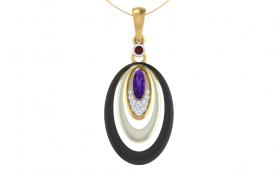Enamel Diamond & Gemstone Jewelry Set