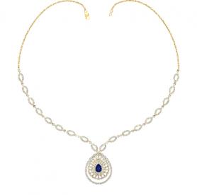 Diamond & Sapphire Gemstone Necklace