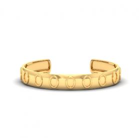 Men's Gold Cuff Bracelet - Motivic Collection