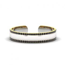 Men's Cuff Bracelet with Gemstone - Motivic Collection