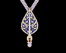 Ethnic Collection - Kundan & Enamel  Necklace & Earring