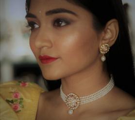 Pearl & Kundan Bridal Choker Necklace