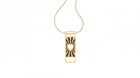 Minimalistic Inscribed Gold Pendant