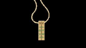 Prism Minimalistic Inscription Gold Pendant