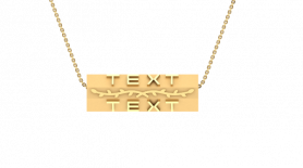 Gold Inscribed Bar Necklace