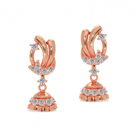 Floral  Gold & Diamond  Earring