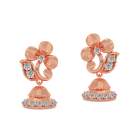 Floral Diamond Dangler - Minimalistic Collection