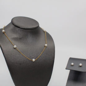 Akoya Cultured Pearl Pearl Station Necklace
