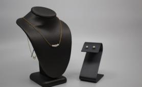Akoya Pearl Bar Necklace & Studs