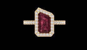 Garnet & Diamond Vintage Ring