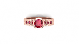 Garnet & Sapphire Vintage Ring