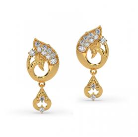 Floral Diamond Earring